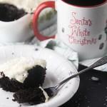 Santa's White Christmas Wacky Cake