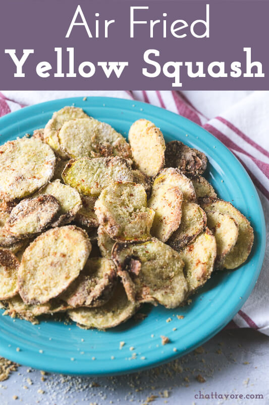 a photograph of a plate of air fried yellow squash