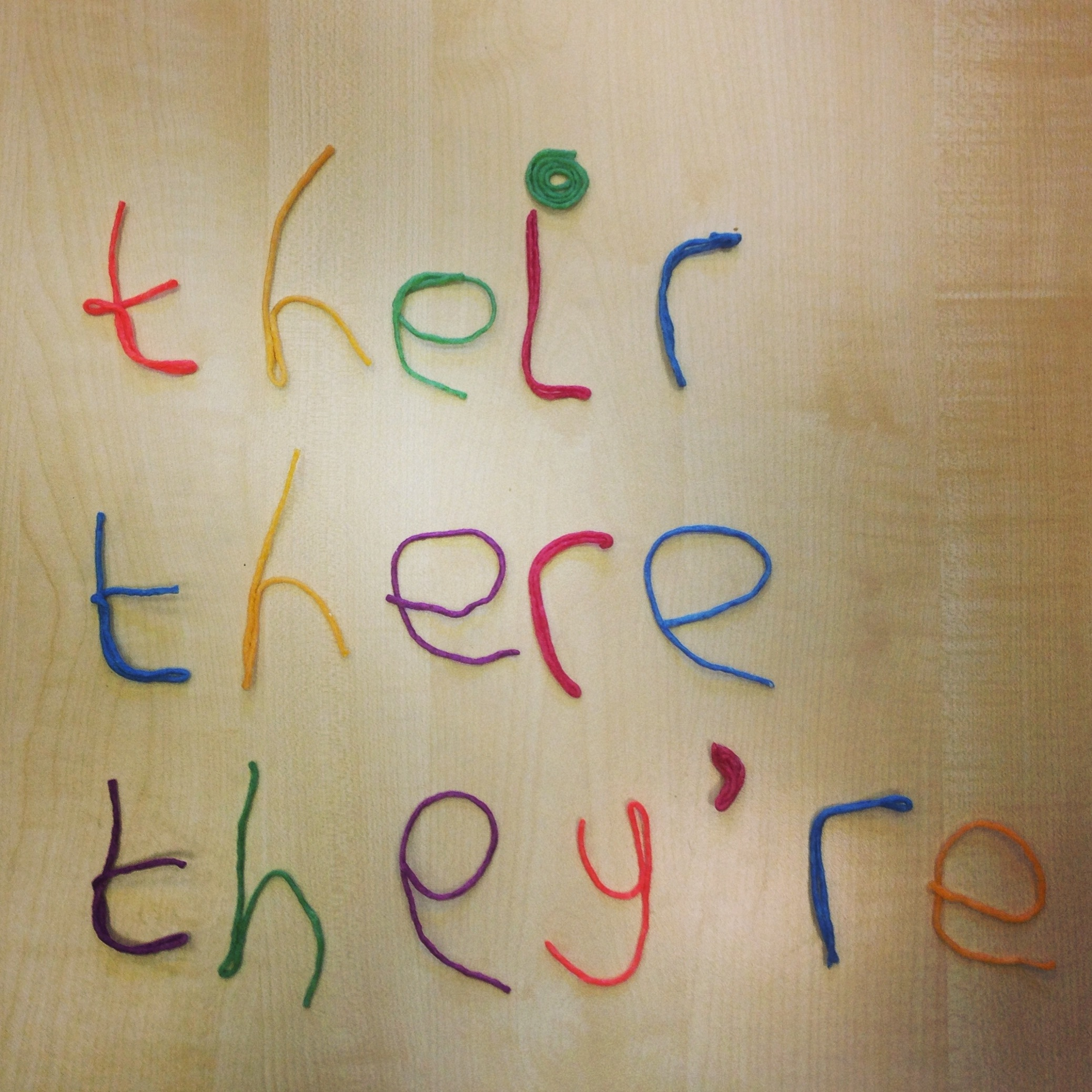 Colourful Homophones Making Their There And They Re