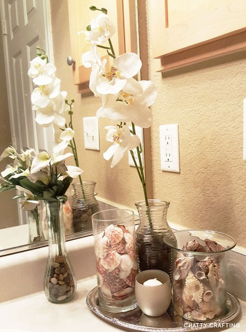 Dollar store decor spa bathroom on a budget updated 2017 for Bathroom decor dollar tree