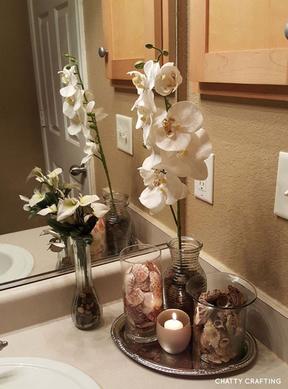 Affordable #dollar #store #coastal #bathroom idea!