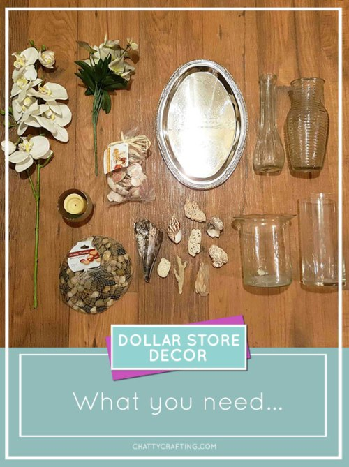 Simple and #affordable #coastal spa-like bathroom #decor #ideas from Dollar Tree!