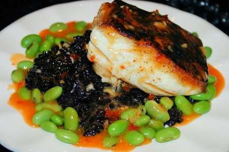 Pan Seared Halibut With A Thai Coconut Chili Sauce