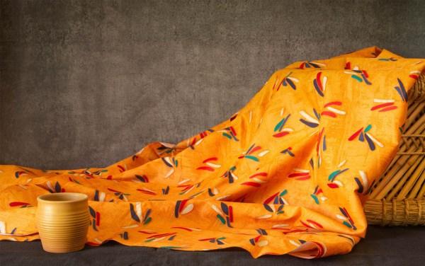 Fabric Abstract Print Orange 1 https://chaturango.com/abstract-orange-soft-cotton-fabric/