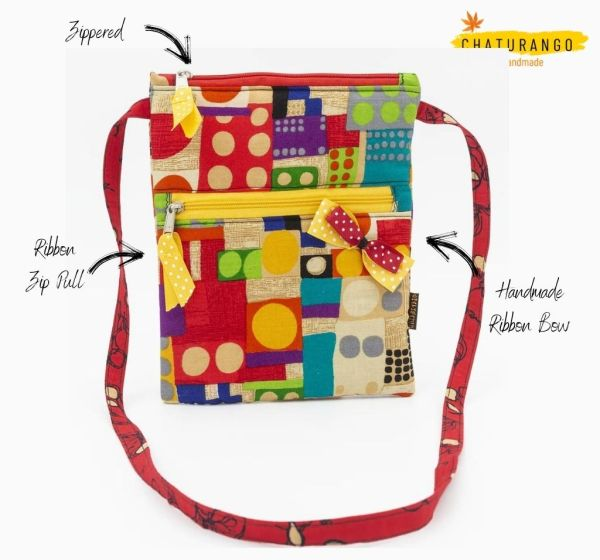 Happy Princess Abstract Red 2 https://chaturango.com/sling-bag-for-girls-abstract-print/