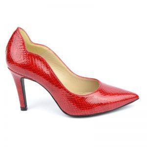 Escarpins rouge passion en cuir petites tailles Brenda Zaro