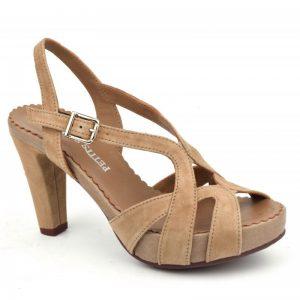 Sandales Plumers suédine nude petites pointures