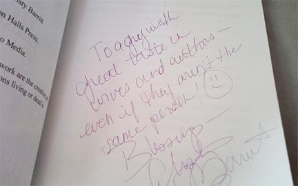 Christy Barritt Autograph