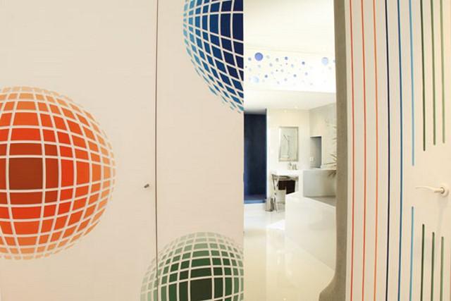 Décors peints inspiration Vasarely par Chaux Room