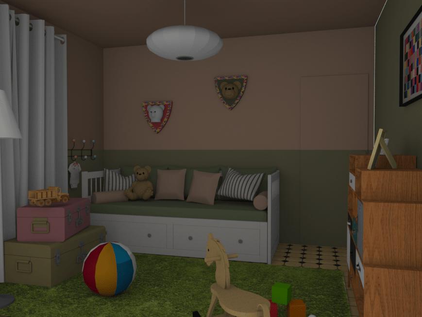 Relooking chambre enfant visuel 3D Chaux Room