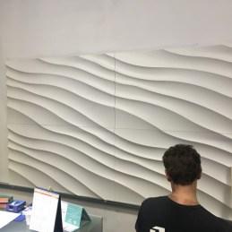 Pose de panneaux en polymère