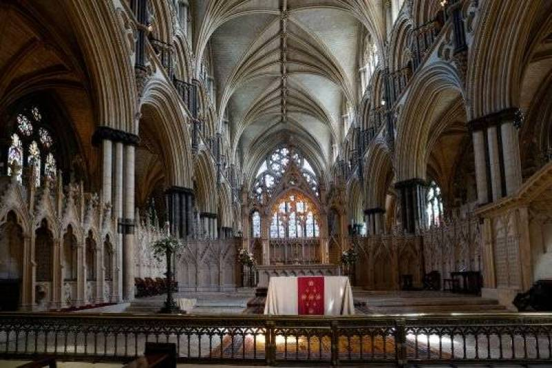 Coro do Anjo de St. Hugh, Lincoln Cathedral