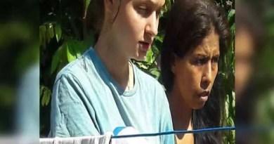 Patricia estava cuidando do bebê de quatro outras mulheres, quando foi encontrada na selva