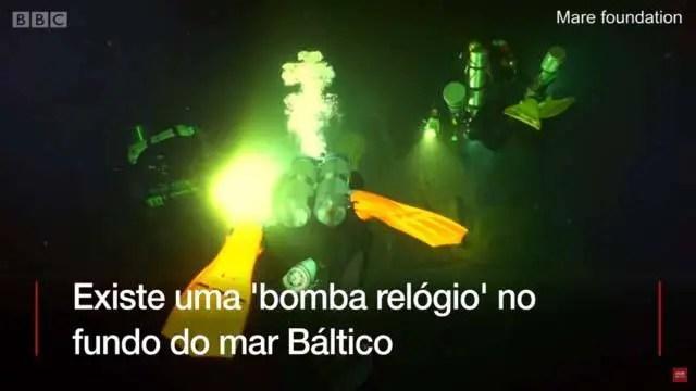 Uma 'bomba-relógio' nazista no fundo do mar