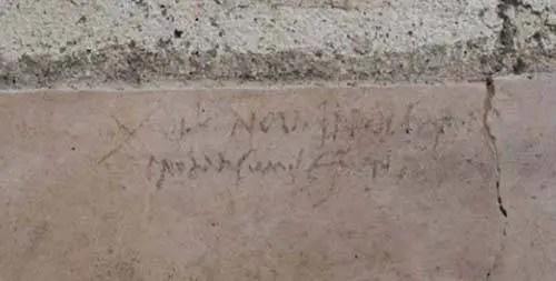 Detalhe do graffiti - foto Parco Archeologico di Pompei