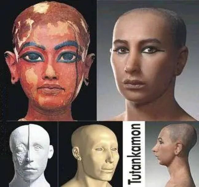 Em maio de 2005, egípcios, franceses e americanos reconstituíram sua face a partir de imagens de tomografia computadorizada