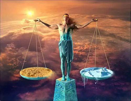 A balança de almas
