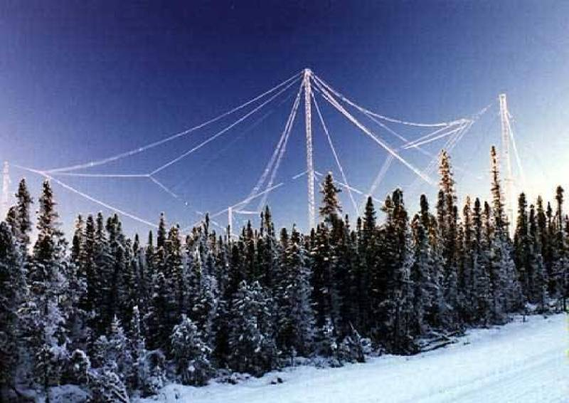As antenas do Instrumento de Investigação emitem sinais para altitudes entre 100 e 350 Km