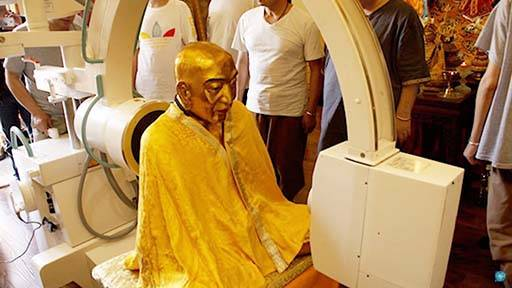 O corpo mumificado do mestre budista Ci Xian