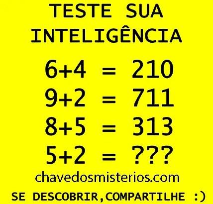 Teste de Inteligência matemática...