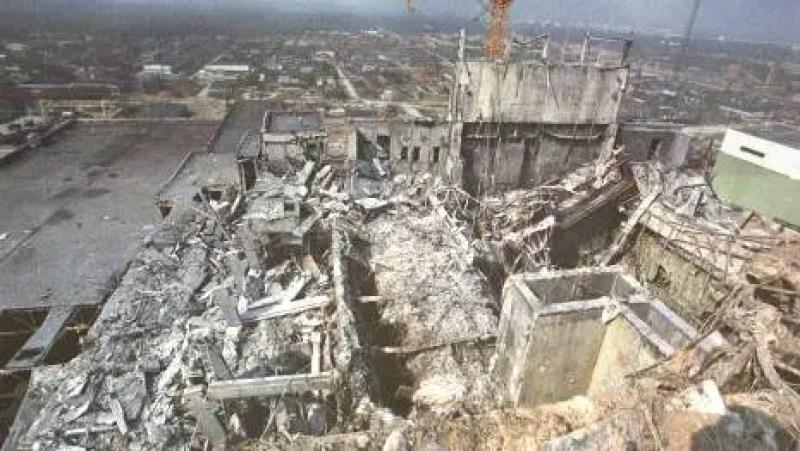 a Chernobyl logo após o acidente