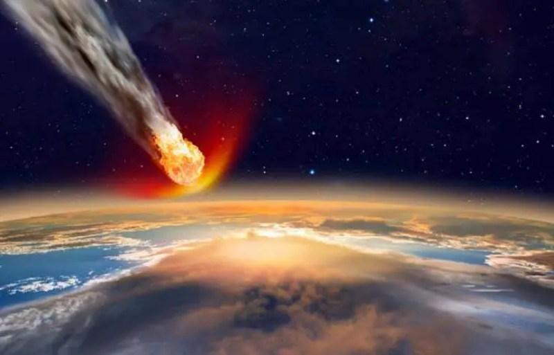 Alerta do mundo grande do asteróide