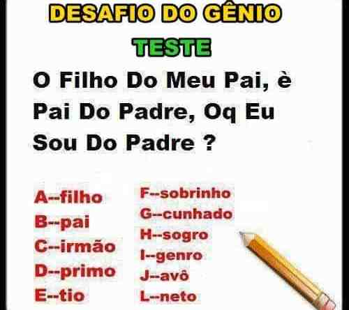 Teste do Padre chave