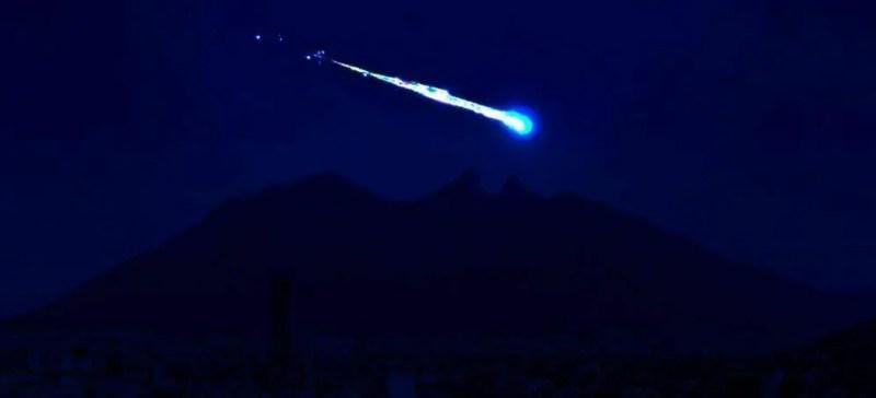 Imagens lindas de um meteorito que caiu no México