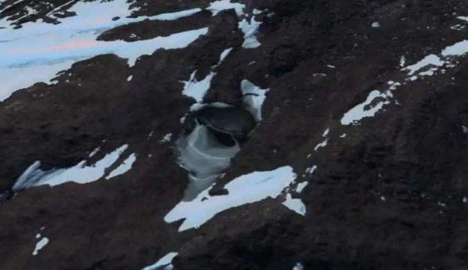 Imagem de satélite mostra a entrada de uma base nazista ou alienígena na Antártica