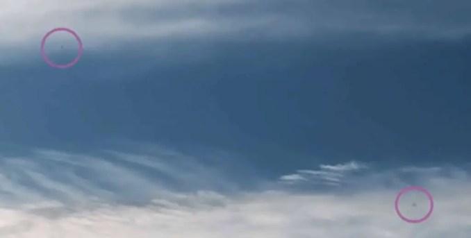OVNI Tipo 3: 1 de novembro de 2020 17:33, a forma deste objeto desta vez é Esferas, detectadas ao longo de 100 quadros, e a direção da linha de visão é Nordeste.