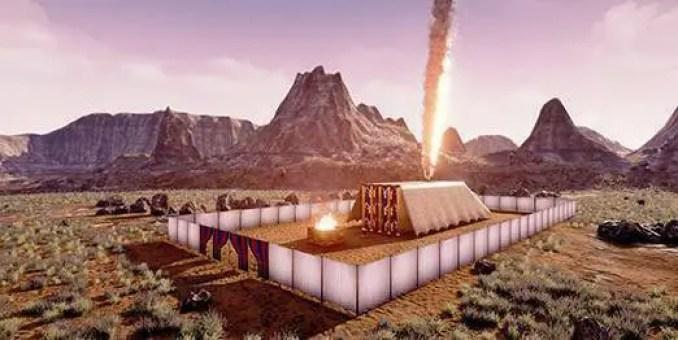 """Tabernáculo (em hebraico: מִשְׁכַּן, mishkan, """"residência"""" ou """"habitação""""), de acordo com a Bíblia hebraica, era a habitação terrestre de Deus entre os filhos de Israel desde o tempo do Êxodo do Egito até a conquista da terra de Canaã."""