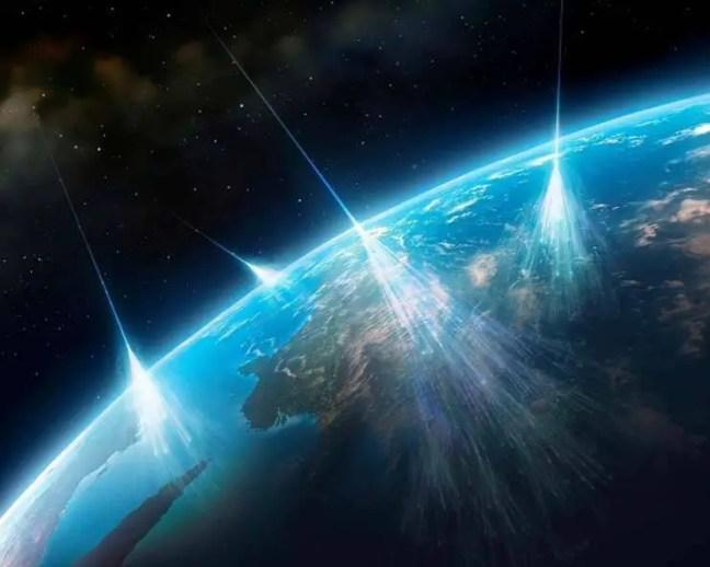 Os cientistas descobrem que um misterioso acelerador de partículas ataca a Terra com perigosos raios cósmicos
