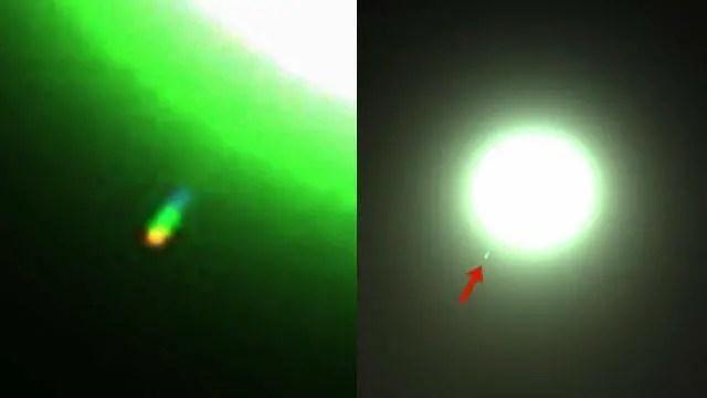 Imagem mostra um objeto desconhecido perto sol.