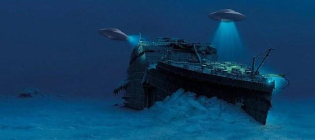 Um Cientista Apresentou A Versão De Que O Titanic Foi Afundado Por Alienígenas