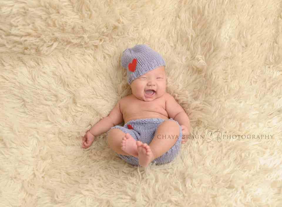 3 month old baby laughing