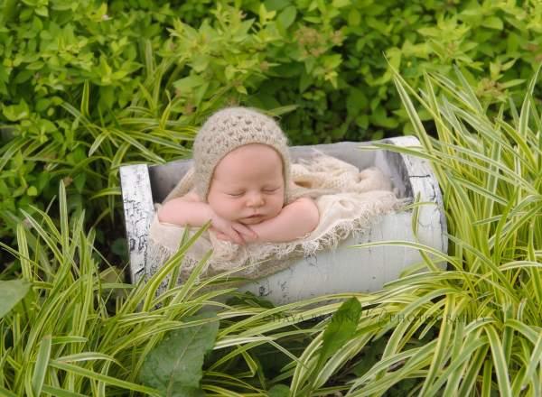 newborn baby outdoors