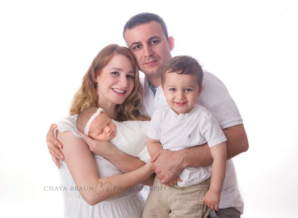 newborn baby and family portrait
