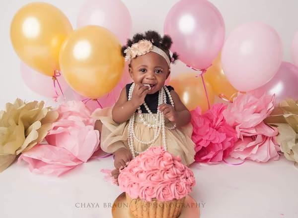 Baltimore cake smash photographer