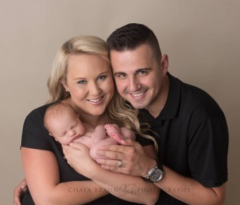 newborn family posing