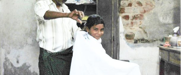 A Kerala Model Barber Shop