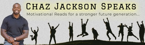 Chaz Jackson Blog banner on gray teens jumping for joy
