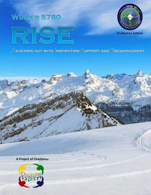 RISE Newsletter – Winter 5780 Shabbaton Edition