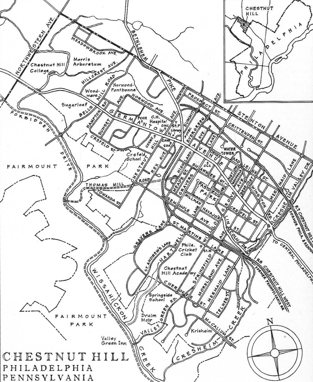 1967 – Chestnut Hill Historical Society (CHHS) is incorporated