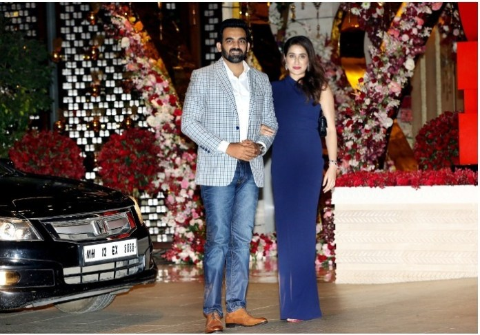 Zaheer Khan with wife