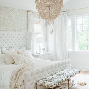 All white Bedroom style