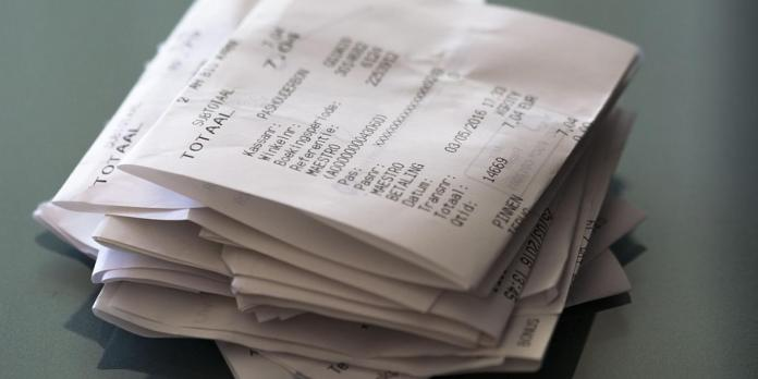 ATM receipts