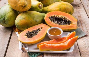 Honey and papaya