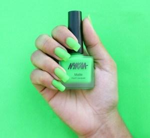 nykaa lime nail colour