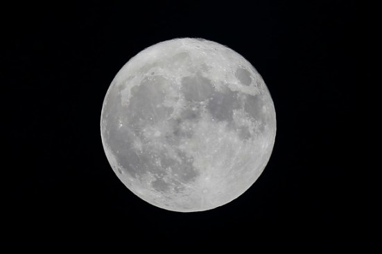 General view of the moon during the match