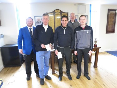 Alan Gregory, Chris Bracchi and Tom Fenton Sunday Texas Scramble runners up